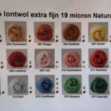 Natural dyes wol extra fijne lontwol